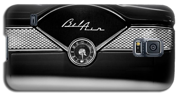 1955 Chevy Bel Air Glow Compartment In Black And White Galaxy S5 Case