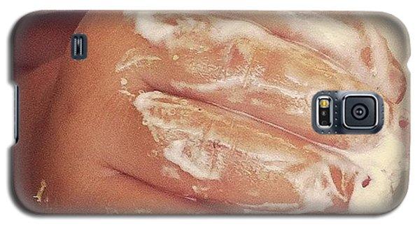 Funny Galaxy S5 Case - 1st Birthday Frosting by Gwyn Newcombe