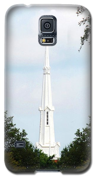 Galaxy S5 Case featuring the photograph 1st Christian Steeple by Kay Lovingood