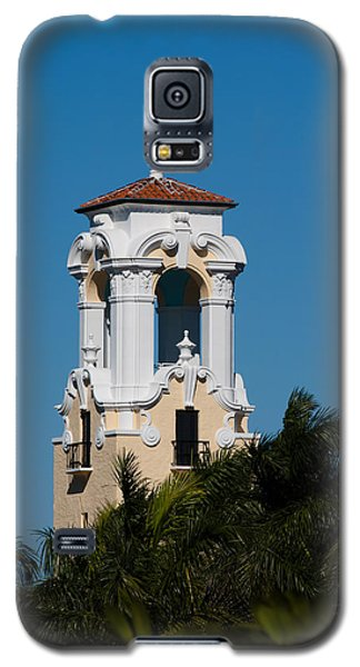 Galaxy S5 Case featuring the photograph Congregational Church Tower by Ed Gleichman
