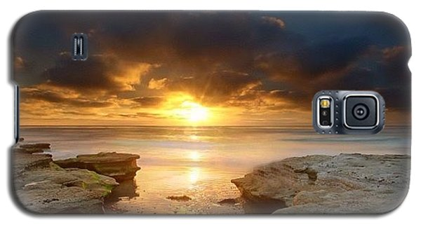 Galaxy S5 Case - Long Exposure Sunset In North San Diego by Larry Marshall
