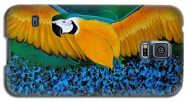 Macaw On The Rise Galaxy S5 Case