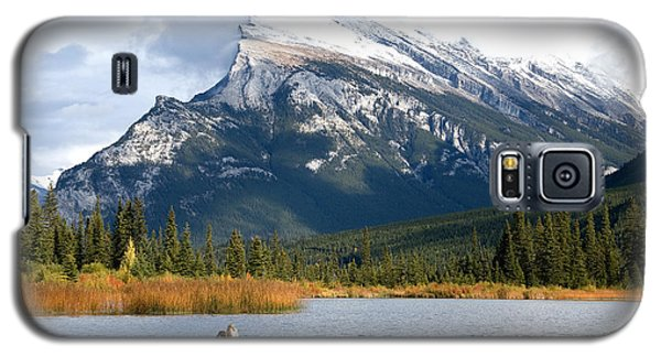 Galaxy S5 Case featuring the photograph Mt Rundle Banff National Park by Bob and Nancy Kendrick