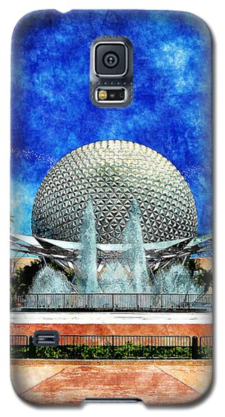 Galaxy S5 Case featuring the digital art Spaceship Earth And Fountain Of Nations by Sandy MacGowan