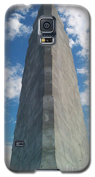 Galaxy S5 Case featuring the sculpture Wright Brothers Memorial by Tony Cooper