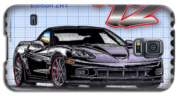 Galaxy S5 Case featuring the drawing 2012 Centennial Edition Zr1 Corvette by K Scott Teeters