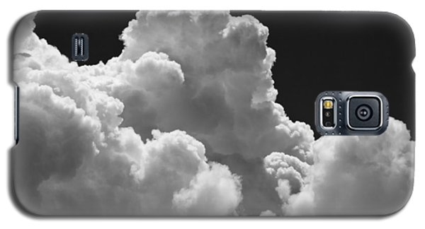 Black And White Sky With Building Storm Clouds Fine Art Print Galaxy S5 Case by Keith Webber Jr