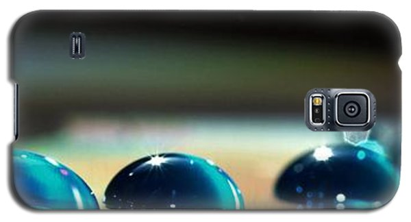 Blue Drops Galaxy S5 Case by Sylvie Leandre