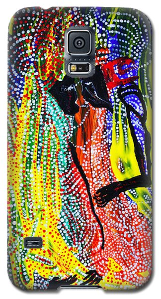Galaxy S5 Case featuring the painting Jesus And Mary by Gloria Ssali