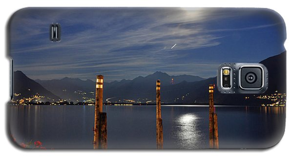 Moon Light Over An Alpine Lake Galaxy S5 Case