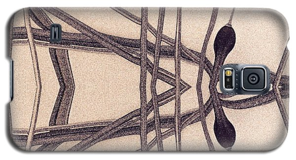 Galaxy S5 Case featuring the digital art  Art Abstract by Odon Czintos