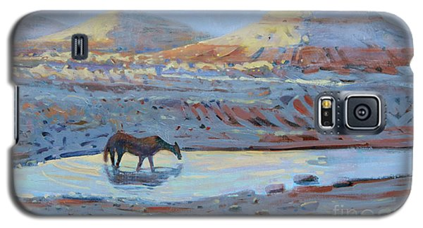 Galaxy S5 Case featuring the painting Water Hole by Donald Maier