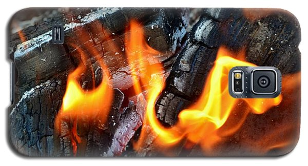 Wood Fire Galaxy S5 Case