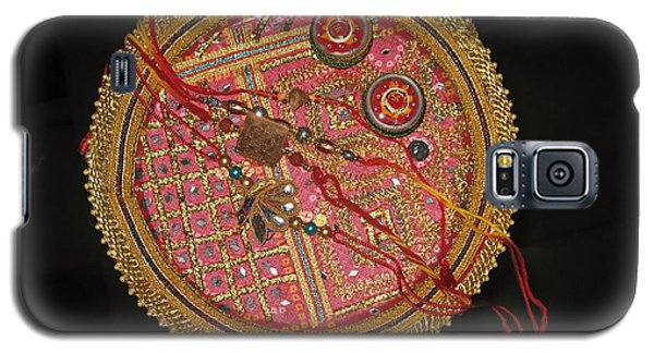 Galaxy S5 Case featuring the photograph A Bowl Of Rakhis In A Decorated Dish by Ashish Agarwal