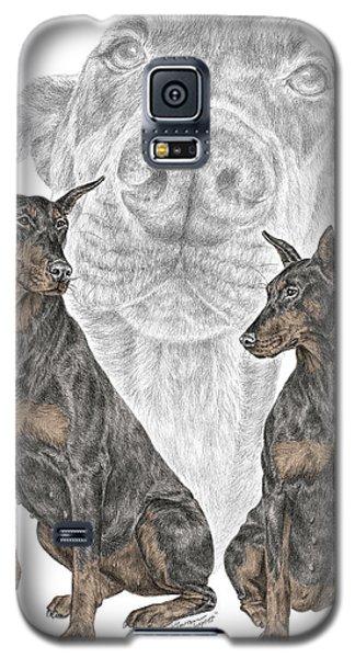 A Doberman Knows - Dobe Pinscher Dog Art Print Galaxy S5 Case