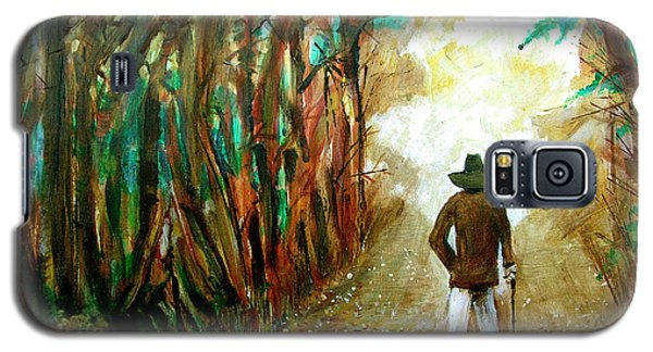 A Fall Walk In The Woods Galaxy S5 Case by Seth Weaver