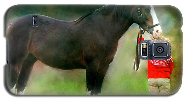 Galaxy S5 Case featuring the photograph A Girl And Her Horse by Davandra Cribbie