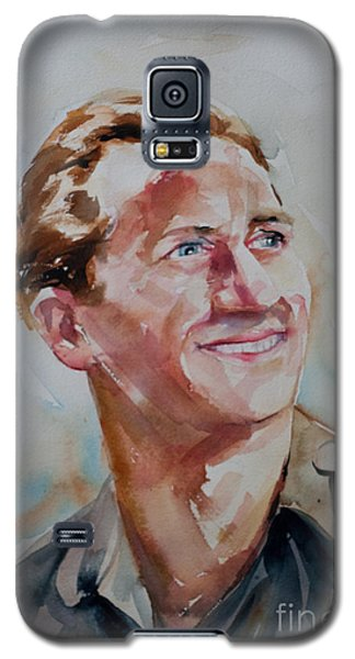Galaxy S5 Case featuring the painting A Great Man by Barbara McMahon