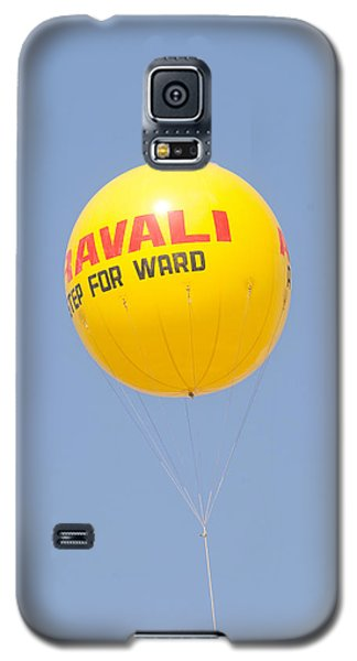 Galaxy S5 Case featuring the photograph A Hot Air Balloon In The Blue Sky by Ashish Agarwal