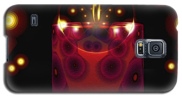 Galaxy S5 Case featuring the digital art A Lighted Fractal Candle by Mario Carini