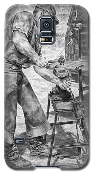 A Man And His Trade - Farrier Art Print Galaxy S5 Case