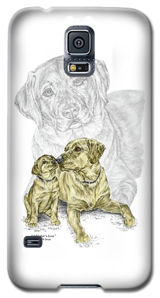 A Mothers Love - Labrador Dog Print Color Tinted Galaxy S5 Case