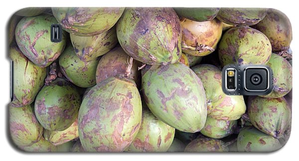 Galaxy S5 Case featuring the photograph A Number Of Tender Raw Coconuts In A Pile by Ashish Agarwal