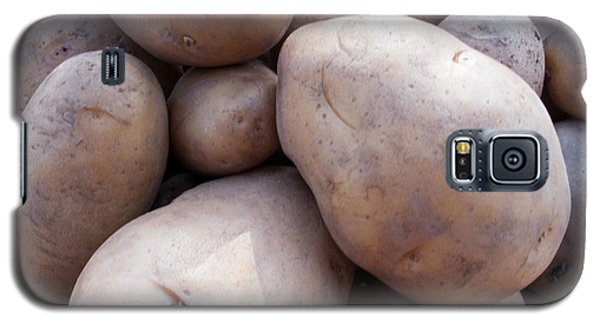 Galaxy S5 Case featuring the photograph A Pile Of Large Lumpy Raw Potatoes by Ashish Agarwal