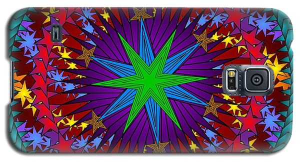 Galaxy S5 Case featuring the digital art A Riot Of Stars by Mario Carini