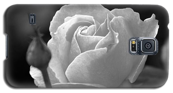 Galaxy S5 Case featuring the photograph A Rose In Black And White by Janice Adomeit