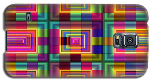 Galaxy S5 Case featuring the digital art A Sense Of Squares by Mario Carini