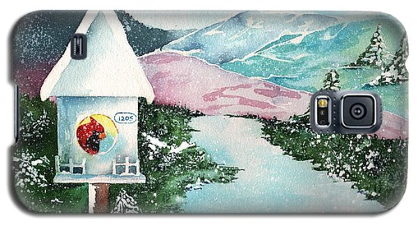 A Snowy Cardinal Day - Christmas Card Galaxy S5 Case by Sharon Mick