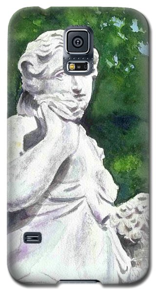 Galaxy S5 Case featuring the painting A Statue At The Wellers Carriage House -1 by Yoshiko Mishina