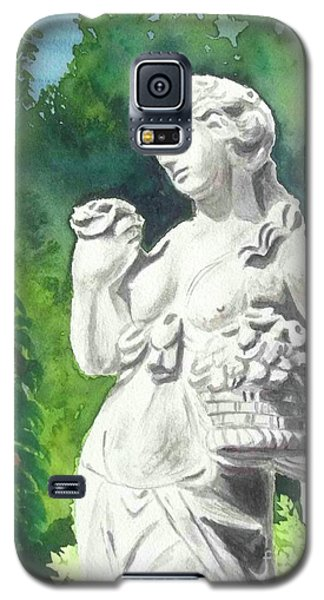Galaxy S5 Case featuring the painting A Statue At The Wellers Carriage House -2 by Yoshiko Mishina