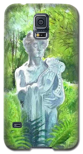 Galaxy S5 Case featuring the painting A Statue At The Wellers Carriage House -4 by Yoshiko Mishina