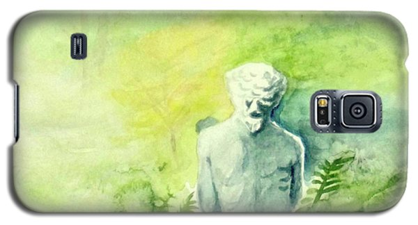 Galaxy S5 Case featuring the painting A Statue At The Wellers Carriage House -5 by Yoshiko Mishina