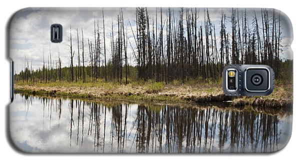 Galaxy S5 Case featuring the photograph A Tranquil River With A Reflection by Susan Dykstra