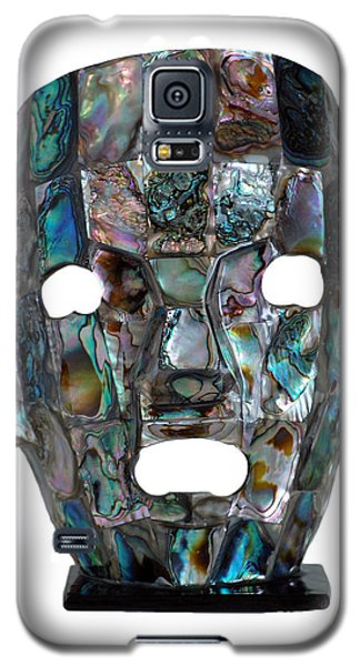 Galaxy S5 Case featuring the photograph Abalone Mayan Mask by Shawn O'Brien
