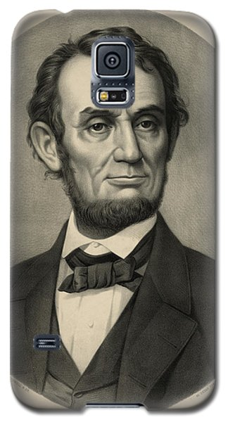 Galaxy S5 Case featuring the photograph Abraham Lincoln Portrait by International  Images