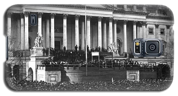 Galaxy S5 Case featuring the photograph Abraham Lincolns First Inauguration - March 4 1861 by International  Images