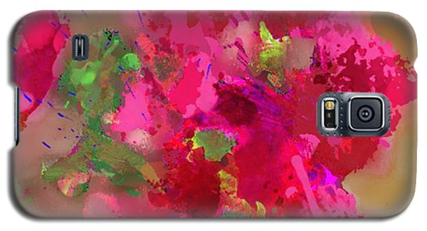 Abstract Bougainvillea Painting Floral Wall Art Galaxy S5 Case by Judy Filarecki