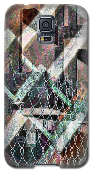 Galaxy S5 Case featuring the digital art Abstract Concrete by Ginny Schmidt