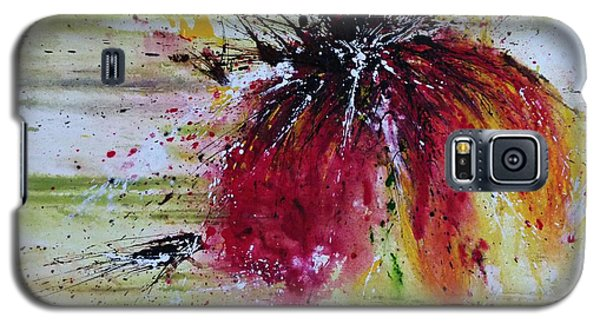 Galaxy S5 Case featuring the painting Abstract  Flower by Ismeta Gruenwald