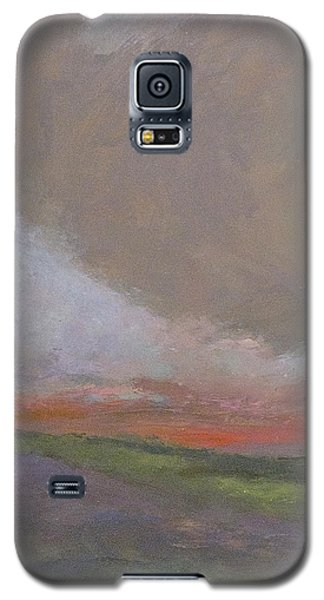 Abstract Landscape - Scarlet Light Galaxy S5 Case