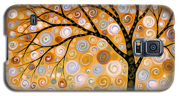 Abstract Modern Tree Landscape Dreams Of Gold By Amy Giacomelli Galaxy S5 Case