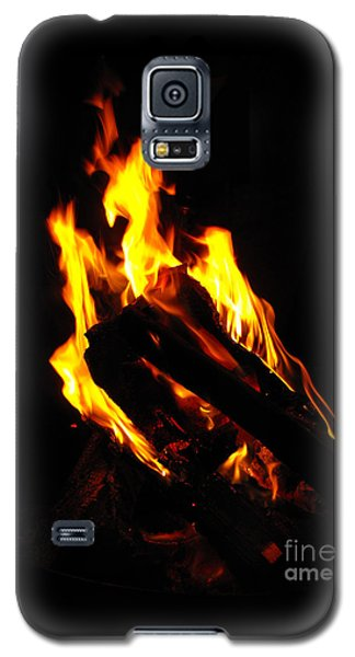 Galaxy S5 Case featuring the photograph Abstract Phoenix Fire by Rebecca Margraf