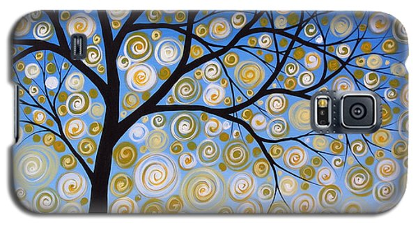 Abstract Tree Nature Original Painting Starry Starry By Amy Giacomelli Galaxy S5 Case