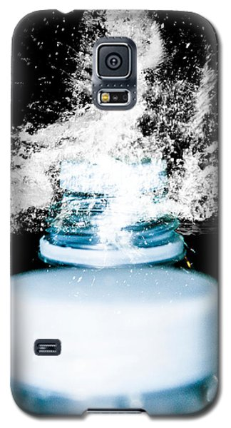 Galaxy S5 Case featuring the photograph Abstract Water Spill by Ester  Rogers