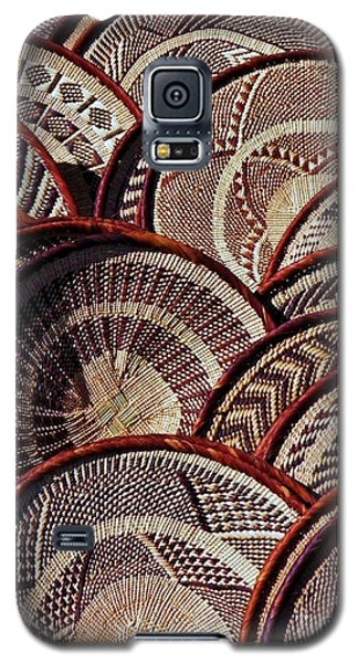 Galaxy S5 Case featuring the photograph African Art Baskets by Werner Lehmann