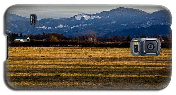 Galaxy S5 Case featuring the photograph Afternoon Shadows Across A Rogue Valley Farm by Mick Anderson